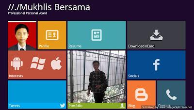 Cara Mensetting Twitter dan Peta pada Personal vCard Windows 8 Version