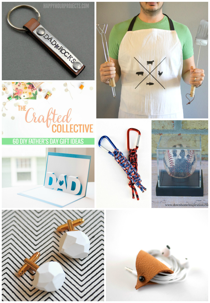 60 DIY Father's Day Gift Ideas--From keychains to man scrub, this collection has it all! www.pitterandglink.com