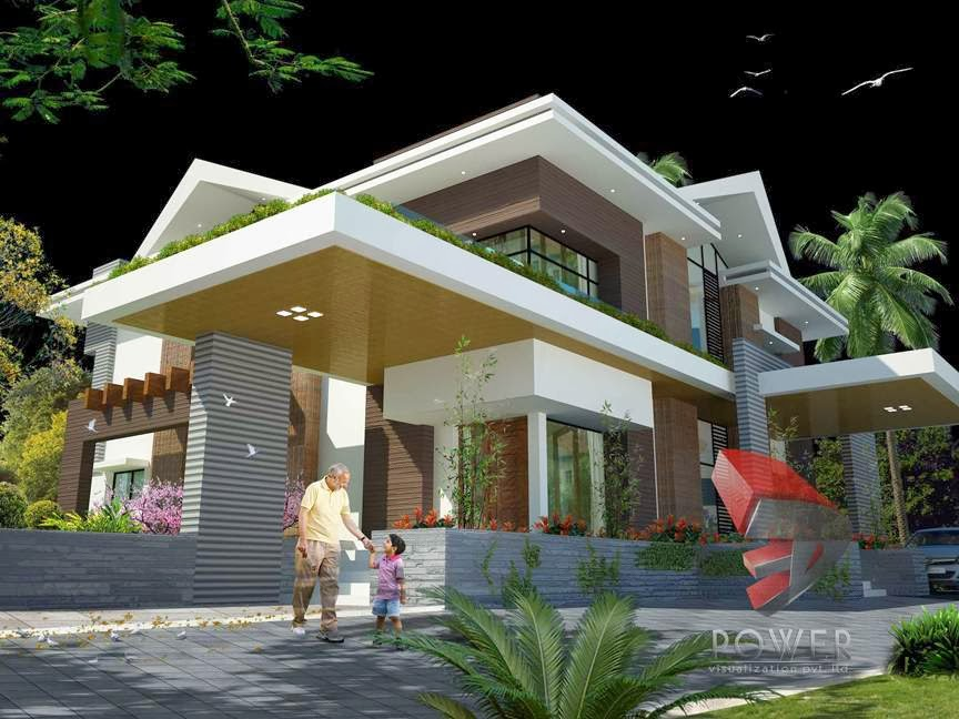 modern house 3d interior design 3d exterior rendering - Home Interior And Exterior Designs