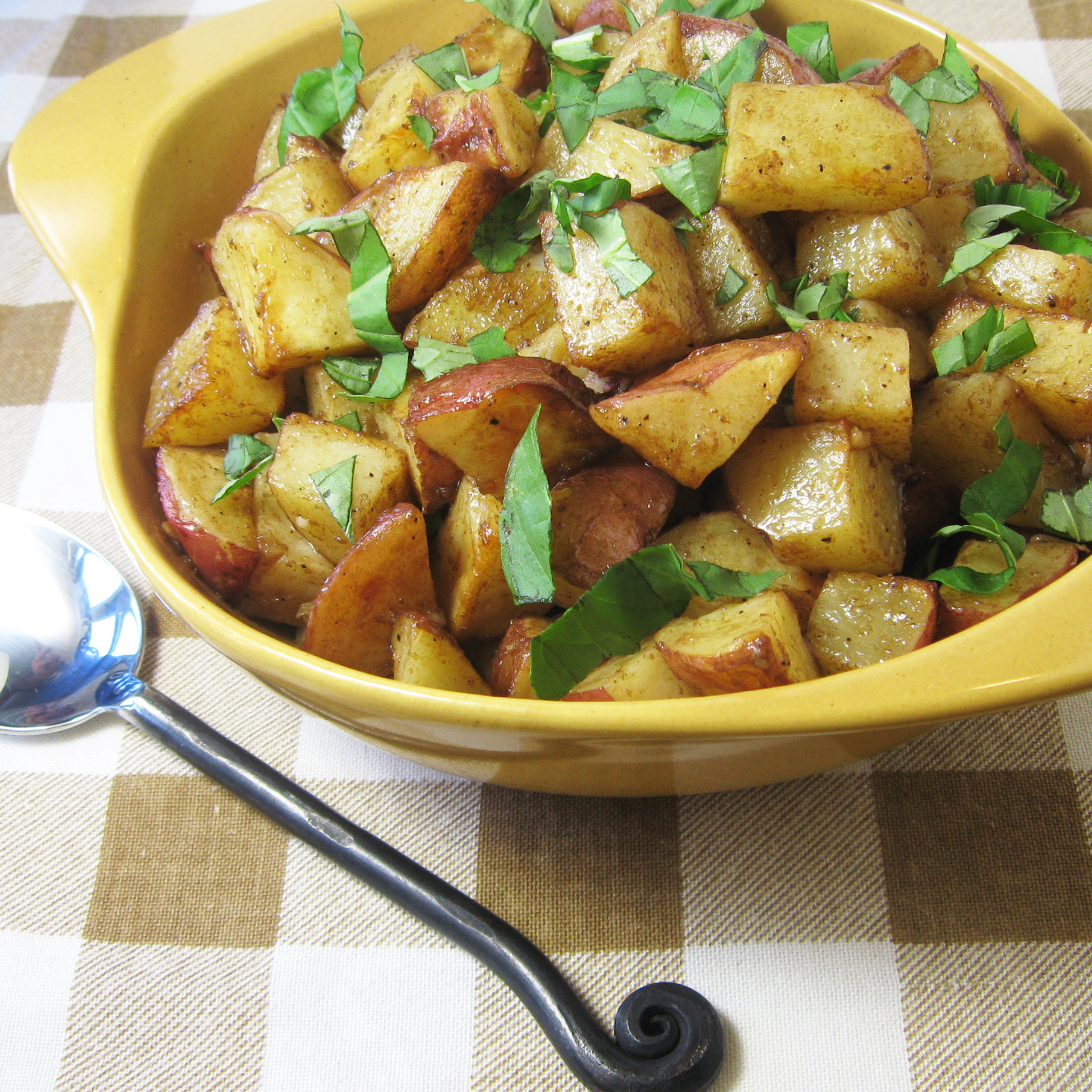 Warm Potatoes With Basil Vinaigrette Recipes — Dishmaps