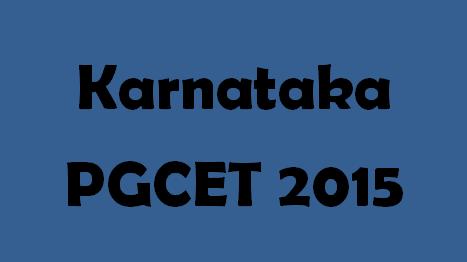 Karnataka PGCET 2015 Logo