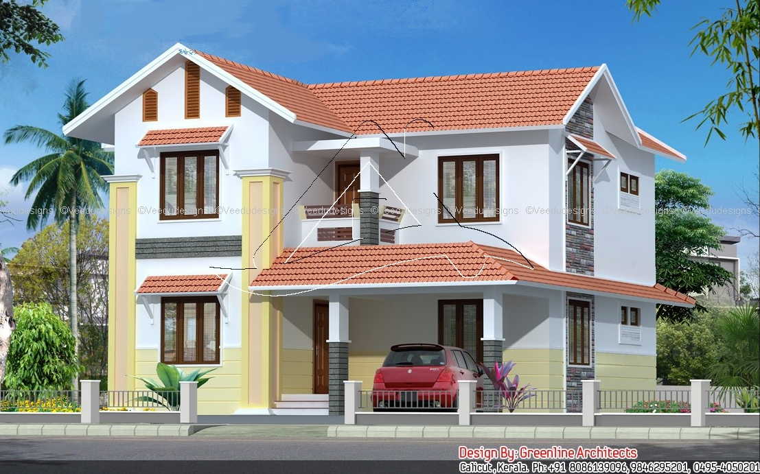 Manorama veedu elevation picture joy studio design for Kerala veedu design