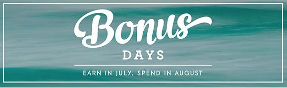 Earn in July, Spend in August