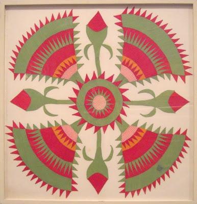 this framed cactus rose quilt