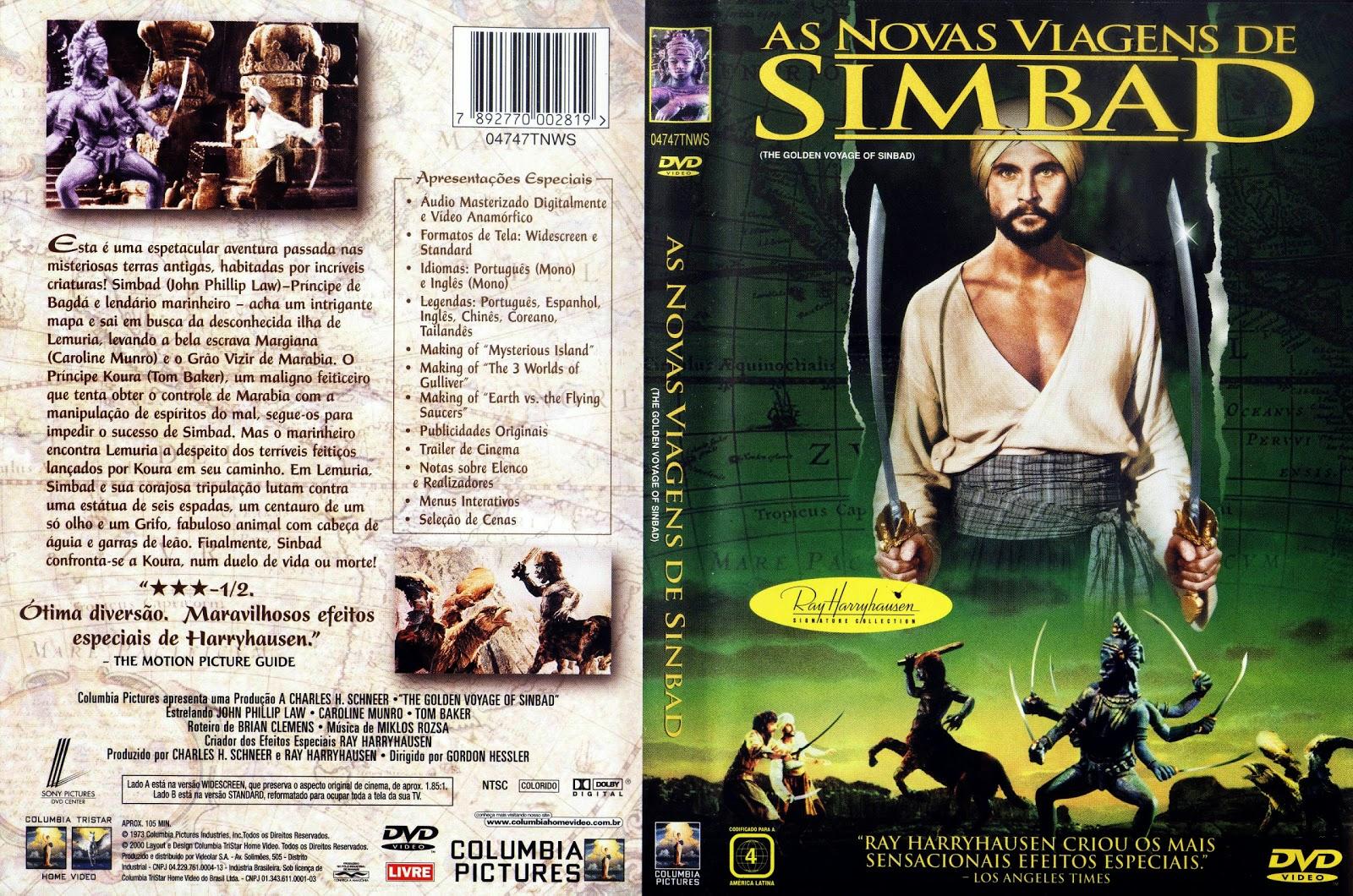 Capa DVD As Novas Viagens De Simbad