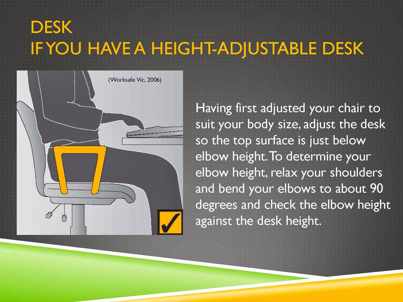 HEIGHT ADJUSTABLE DESK TIPS