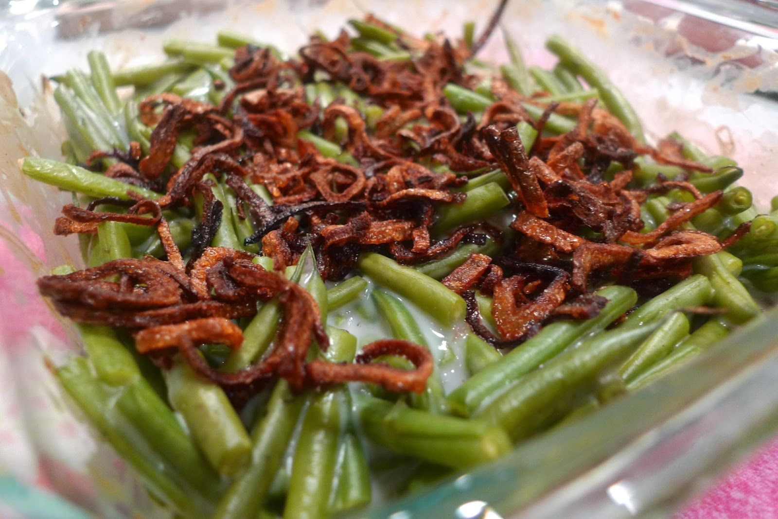 siriously delicious: Green Bean Casserole with Crispy Shallots