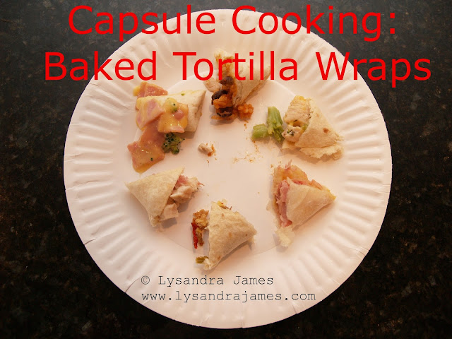 Capsule Cooking: Baked Tortilla Wraps - www.lysandrajames.com