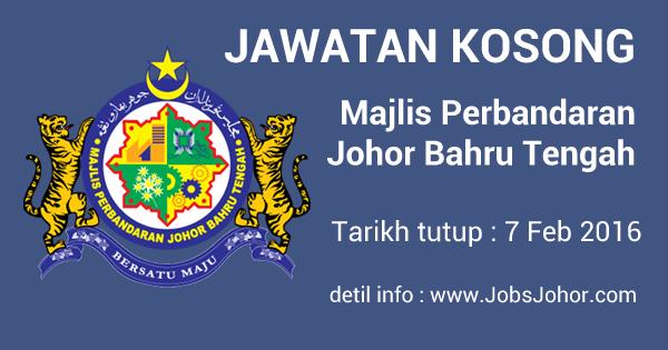 Jawatan Kosong MPJBT 2016 - Majlis Perbandaran Johor Bahru Tengah