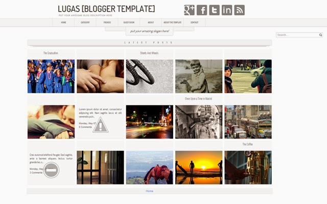 Lugas Free Blogger Template Download