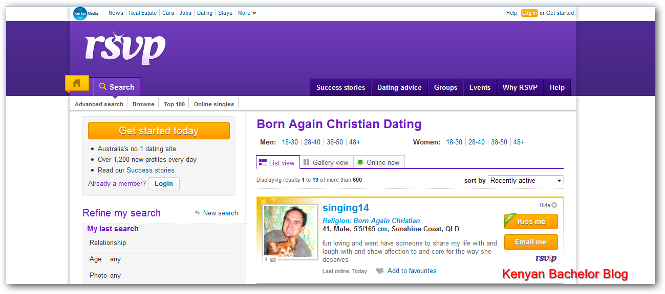 Dating site religion