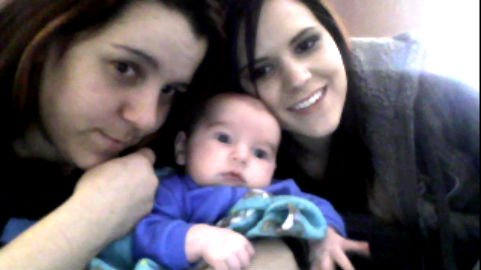 lil christiain with his ma n aunty