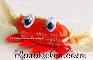 http://clarabelen.com/inspiraciones/2634/envoltorios-de-caramelos-reciclados-para-hacer-adornos-cangrejos/