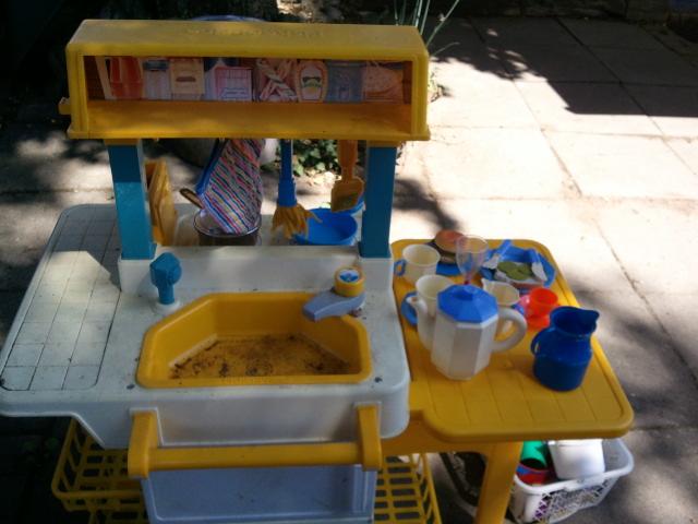 Aragogs Daglog Fisher Price Keuken # Wasbak Handdoek_055134
