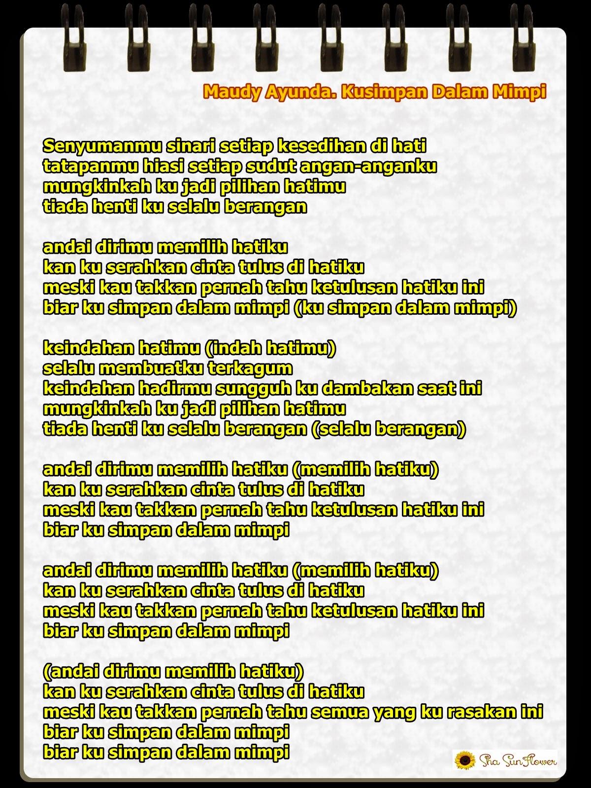 Lirik Lagu Untuk Apa Maudy Ayunda Ilmu Pengetahuan 6