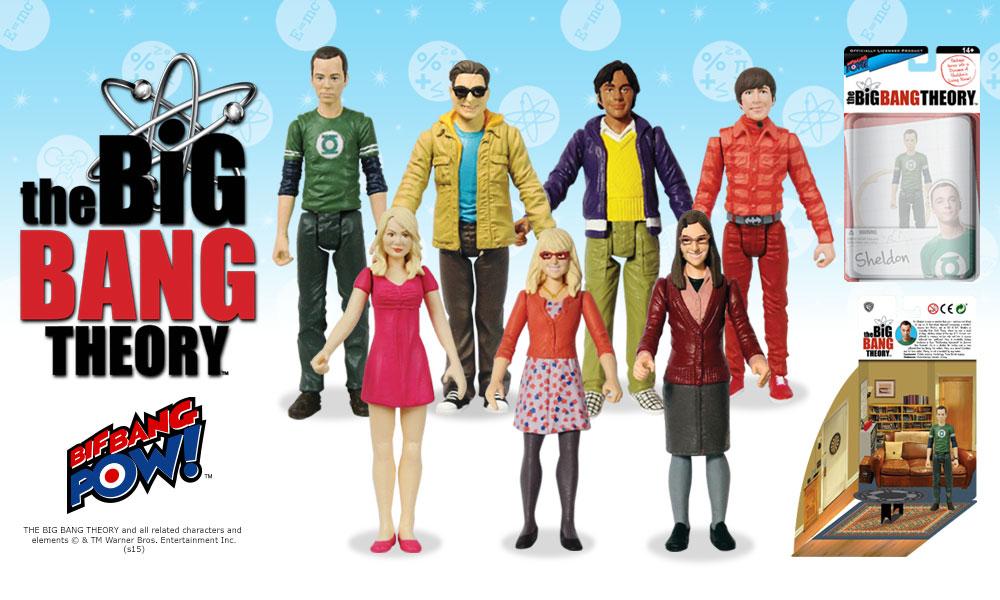 CBS Big Bang Theory Series 1 Sheldon Figure w// Green Lantern Shirt Bif Bang Pow