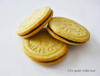 Biscuits à la pistache fourrés au praliné