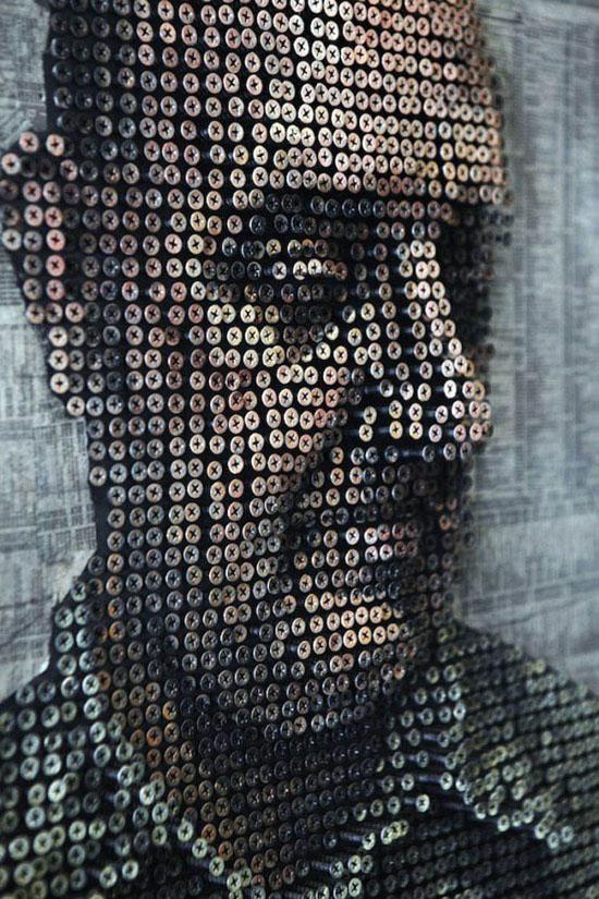 Arte com parafusos de Andrew Meyers