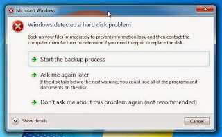 Windows detected a harddisk problem