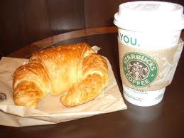 A FREE croissant at Starbucks simply for buying my coffee with my Kalixa prepaid MasterCard!