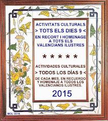 TOTS ELS DIES 9-TODOS LOS DÍAS 9 DE CADA MES, BIOGRAFÍAS DE VALENCIANOS ILUSTRES, MARZO 2015