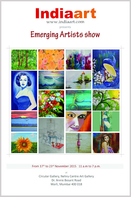Indiaart Gallery presents Emerging Artists show from 17th to 23rd November 2015