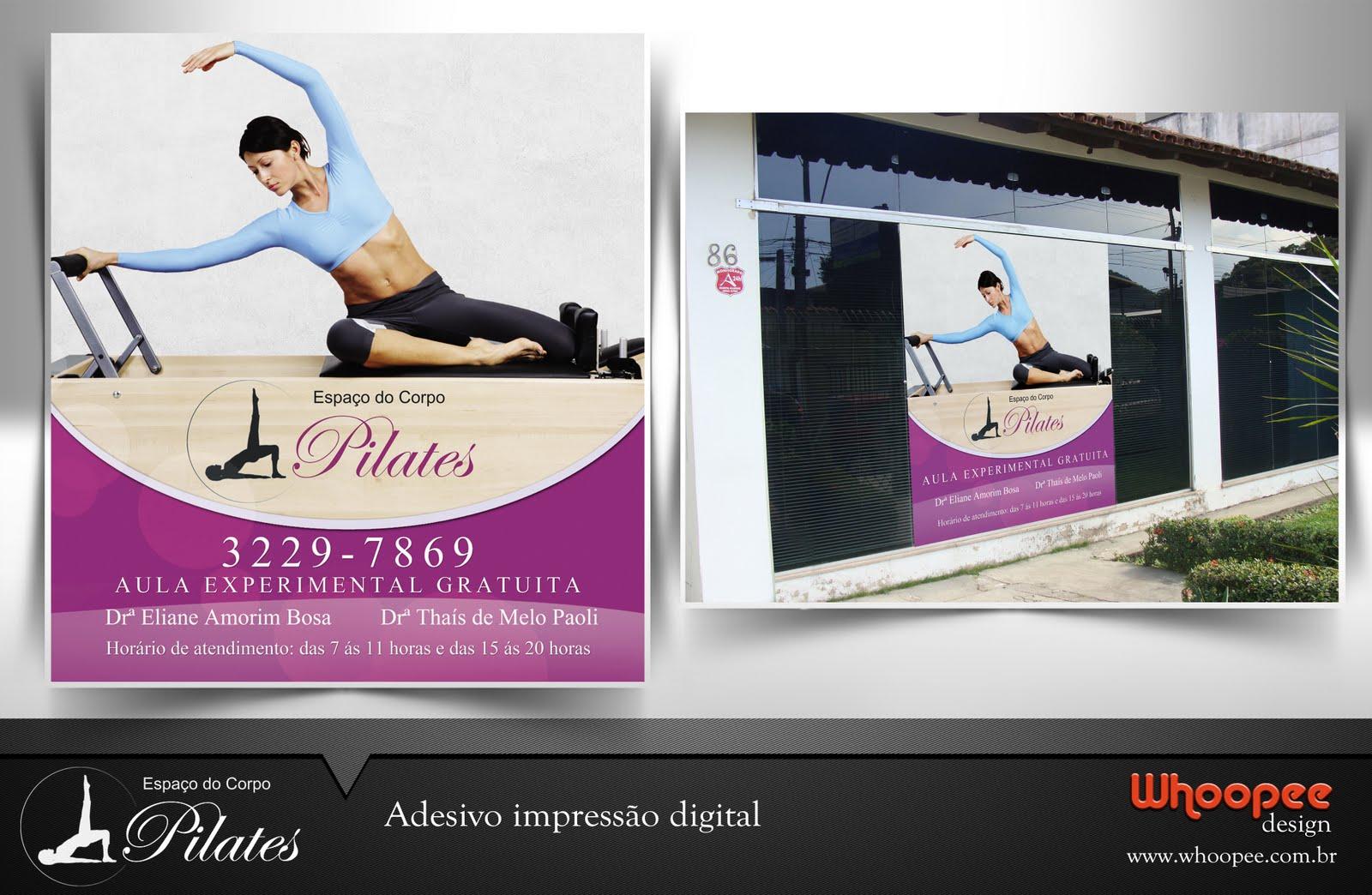 Artesanato Xavantes ~ Whoopee Design Adesivo Impress u00e3o Digital Espaço do Corpo Pilates