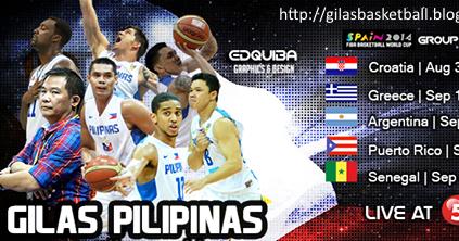 GILAS PILIPINAS GAMES FIBA WORLD BROADCAST SCHEDULE