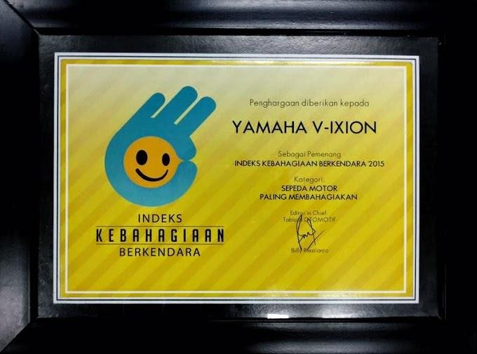Yamaha V-ixion Sepeda Motor Paling Membahagiakan (Index Kebahagian Berkendara 2015)