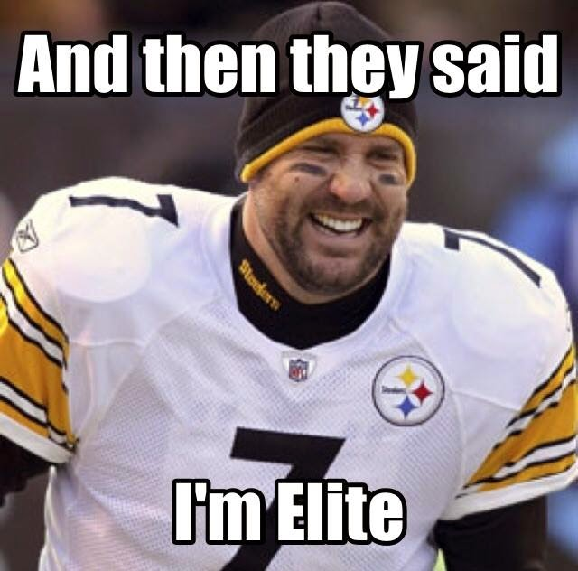 and then they said I'm elite
