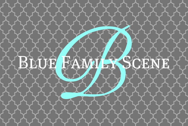 Blue Family Scene