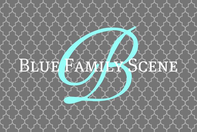 Blue Family Scene