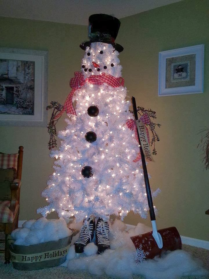 Ideas Products White Christmas Tree Snowman