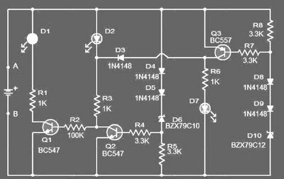 12 Volt car Battery Monitor Circuit