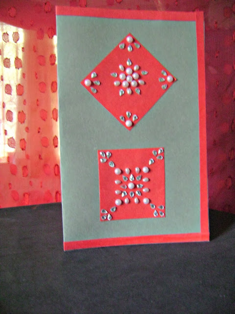 Traditional diwali handmade card