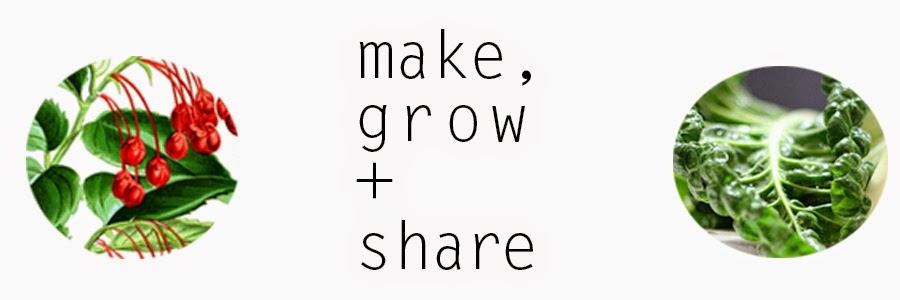make, grow + share