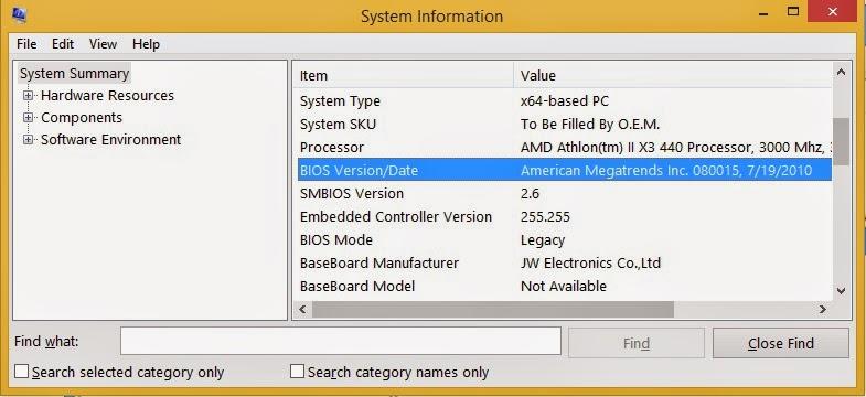 Tips Memaksimalkan BIOS - Versi Bios