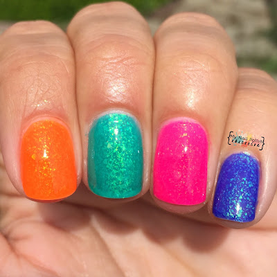Smitten Polish Summer 2015 Neon Flakies