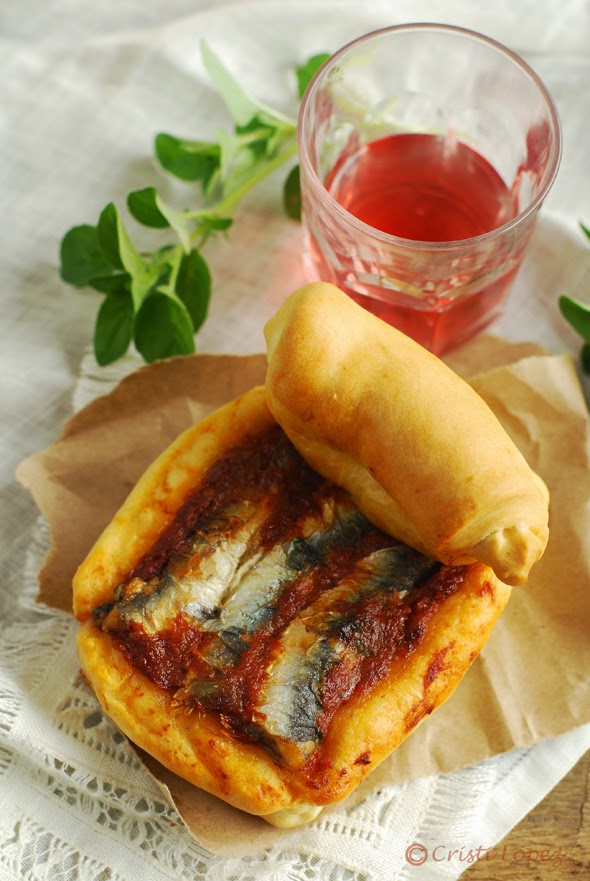 sardinas en lata de pan