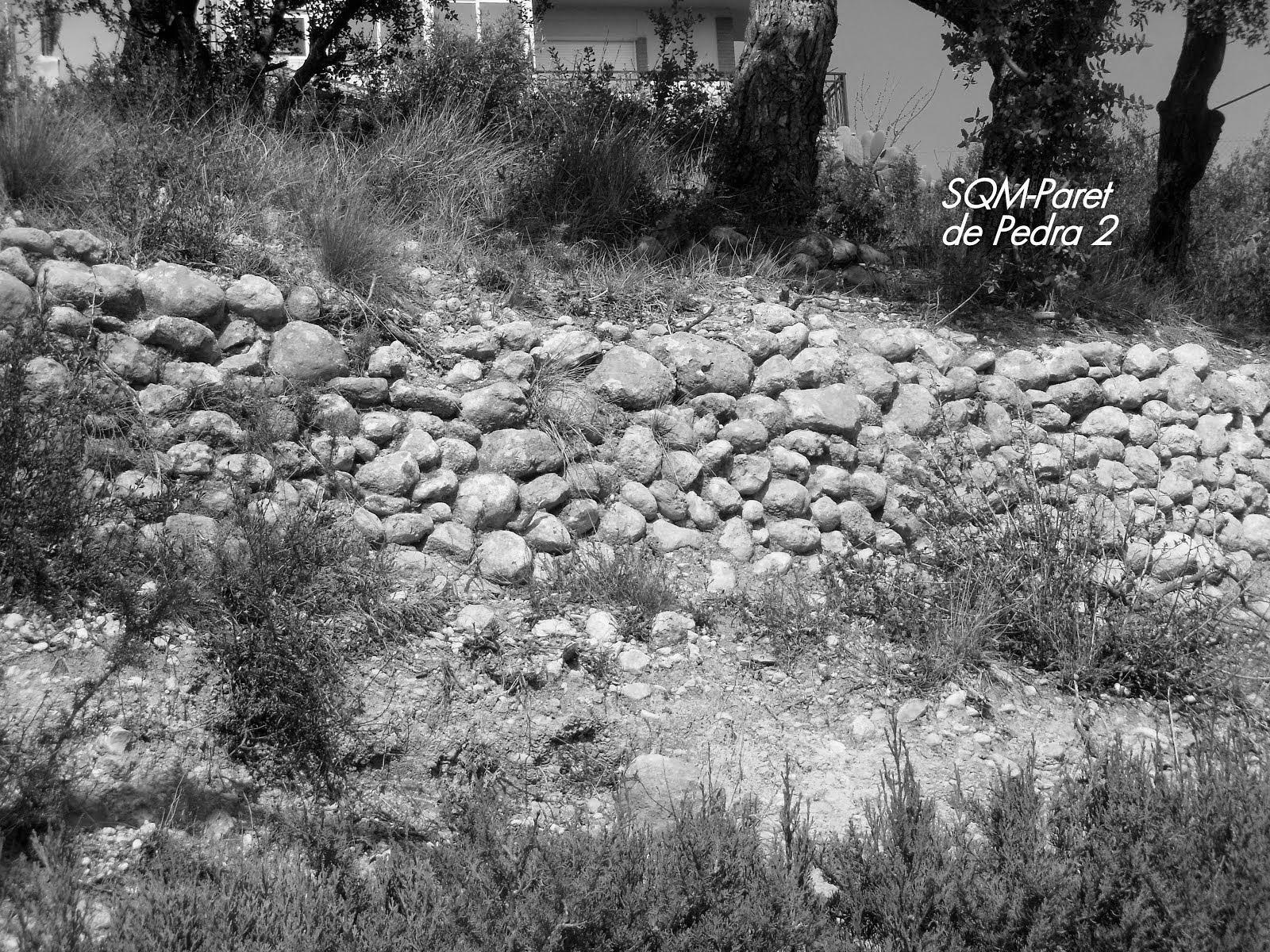 Paret de pedra seca per terrasses.
