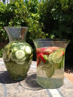 Lemon Cucumber and Strawberry Lime Flavored Waters