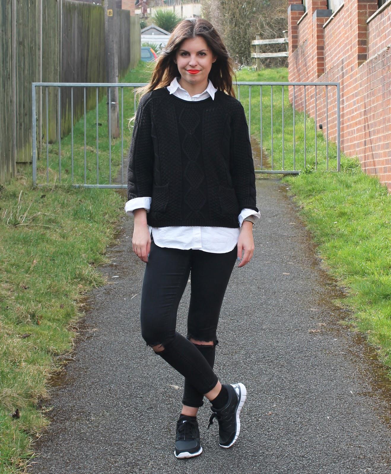 Sweet Monday | UK Fashion And Lifestyle Blog Outfit // Nike Free Runs