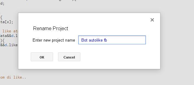 cara membuat Bot autolike