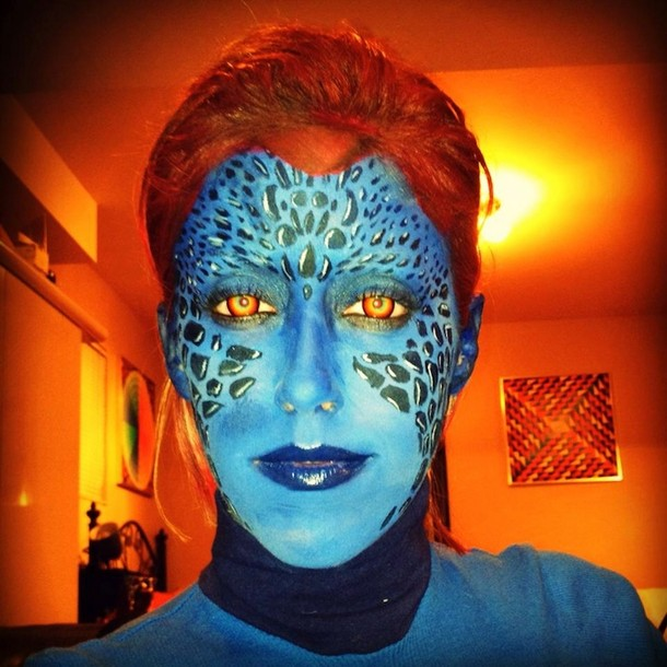 Carly Paige made up as Mystique