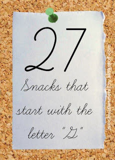 G snacks, food starts with G, letter of the week, preschool