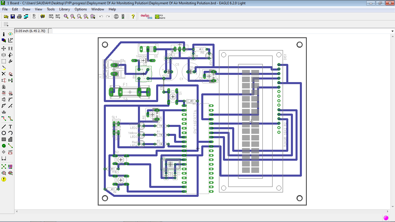 The Development of Air Quality Monitoring System: Circuit and PCB Design