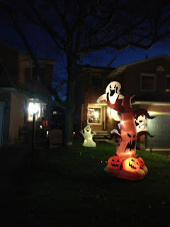 Blow up halloween decor