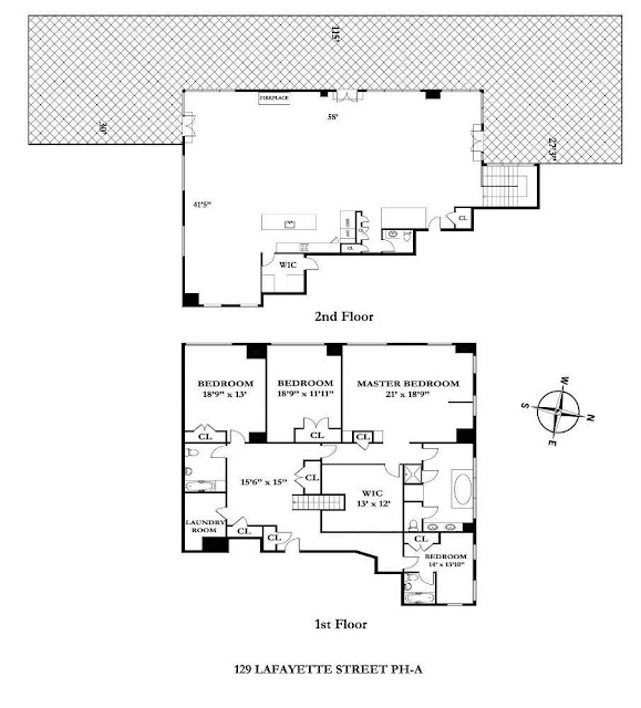 Floor plan for a NYC Penthouse