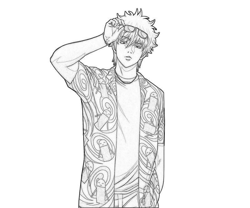 sakata-gintoki-cool-coloring-pages
