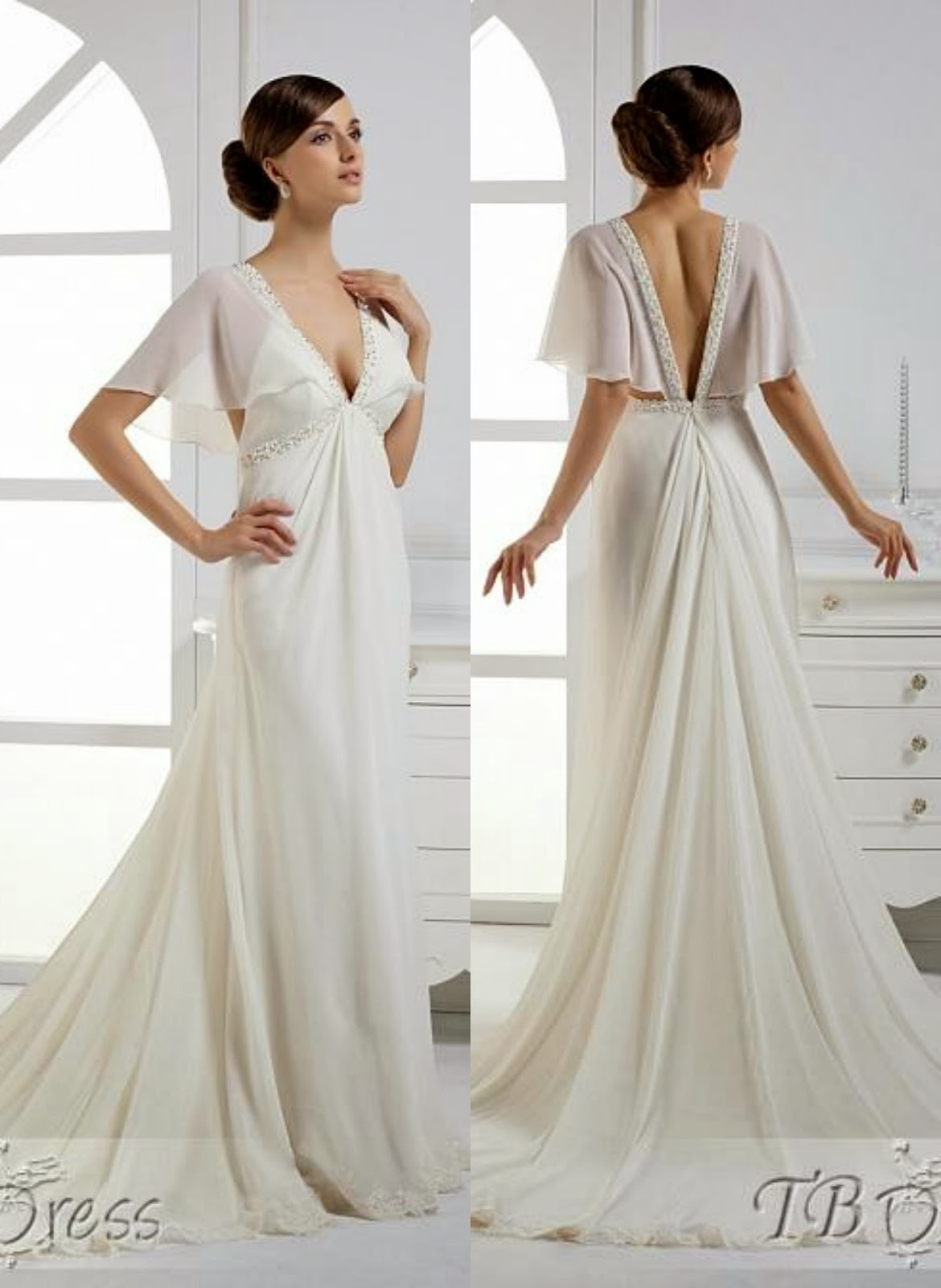 Maternity wedding dresses la boh me for Maternity dress for a wedding